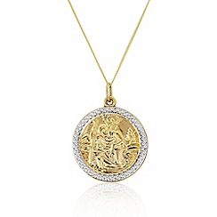 Precious Moments - 9ct gold gents st.christopher pendant