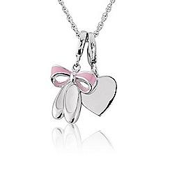 Pineapple - Sterling silver & pink enamel ballet 'Heart' pendant