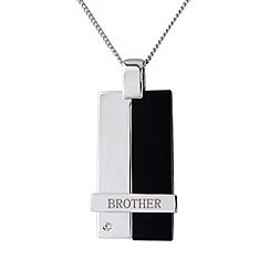 Precious Moments - Silver onyx brother pendant