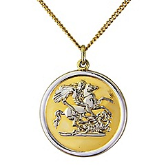Precious Moments - Silver gents george and dragon pendant