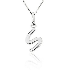 Precious Moments - Sterling Silver Initial 'S' Ladies Pendant