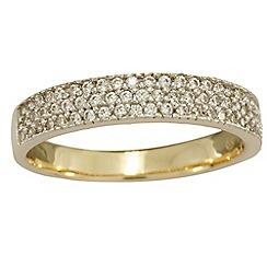 Love Story - 9ct white gold 0.25ct diamond set ladies eternity/ dress ring