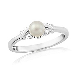 Precious Moments - Sterling silver pearl 'kiss' ring