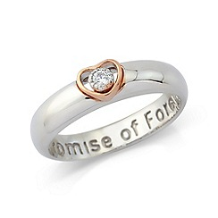 Precious Moments - Sterling silver & rose gold plated 'Promise of Forever' ring