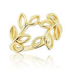 Precious Moments - 9ct  gold plated on silver ladies 'leaf' design ring