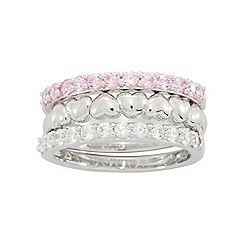 Precious Moments - Sterling silver stone set stacker ring