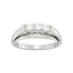 Precious Moments - Sterling Silver Stone set Message Ring