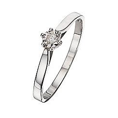 Starlight - 9 carat white gold 0.02ct diamond illusion set solitaire ring