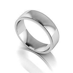 Love Story - Silver 6mm med court wedding ring