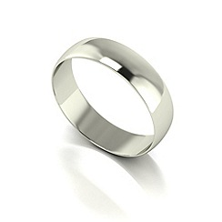 Love Story - 9ct white gold 5mm d shaped wedding band