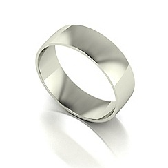 Love Story - 9ct white gold 6mm court wedding band