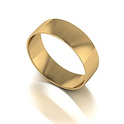 Love Story - 9ct gold 6mm court wedding band