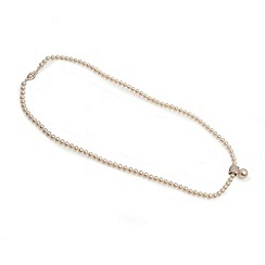 Love Story - 41cm fresh water pearl and silver detail necklace