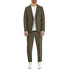 Burton - Khaki lightweight stretch blazer