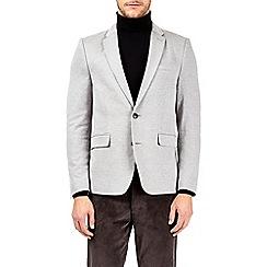 Burton - Light grey textured jersey blazer