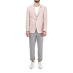 Burton - Pink linen and cotton blend blazer