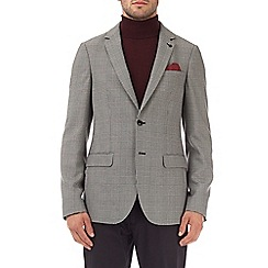 Burton - Grey slim fit prince of wales check blazer
