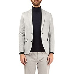 Burton - Light grey muscle fit jersey blazer