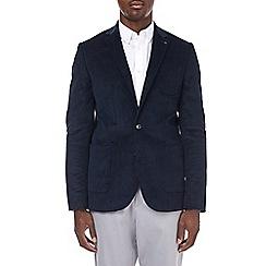 Burton - Skinny stretch navy cord blazer