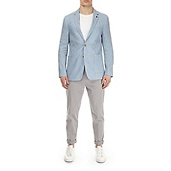 Burton - Blue linen and cotton blend blazer