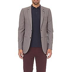 Burton - Multi colour skinny fit mini check stretch blazer