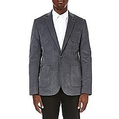 Burton - Skinny stretch grey cord blazer