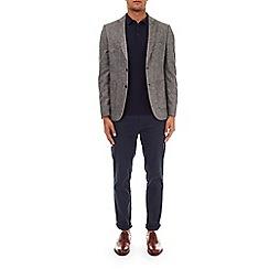 Burton - Grey textured wool blazer