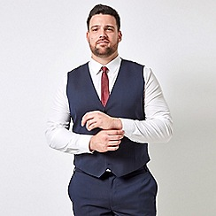 Burton - Navy essential stretch tailored fit waistcoat