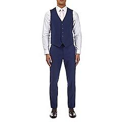 Burton - Midnight blue skinny fit with stretch waistcoat