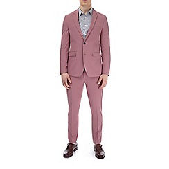 Burton - Pink skinny fit suit jacket with stretch