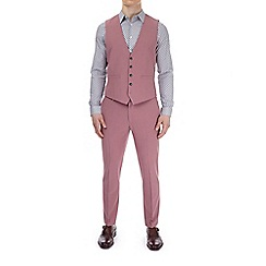 Burton - Pink skinny fit suit waistcoat with stretch
