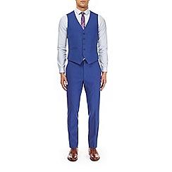 Burton - Bright blue skinny fit waistcoat with stretch