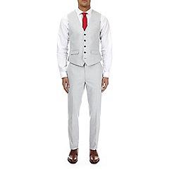 Burton - Light grey skinny fit waistcoat