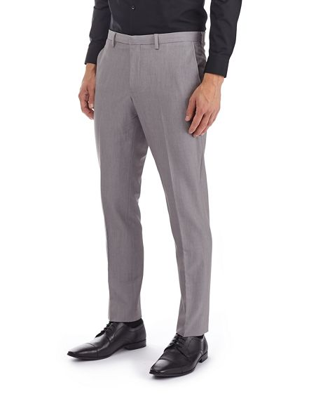 Burton Grey Burton collar tipped trousers Grey vfP0qx50