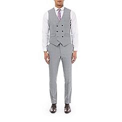 Burton - Grey highlight check skinny fit waistcoat