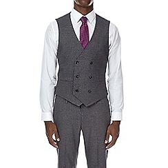 Burton - Dark grey textured skinny fit waistcoat