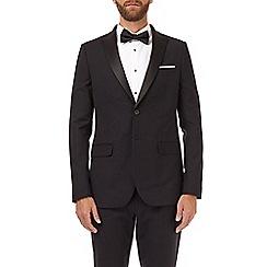 Burton - Black stretch skinny fit tuxedo suit jacket