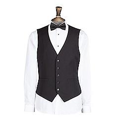 Burton - Black stretch skinny fit tuxedo waistcoat
