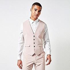 Burton - Pale Pink Skinny Fit Stretch Waistcoat