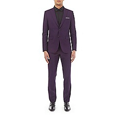 Burton - Purple stretch skinny fit suit jacket