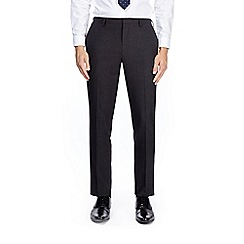Burton - Dark grey slim fit mini textured suit trousers