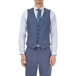 Burton - Blue sharkskin slim fit waistcoat