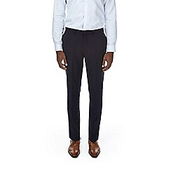 Burton - Navy textured slim fit suit trousers