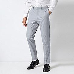 Burton - Grey Texture Slim Fit Suit Trousers