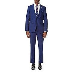Burton - Bright blue slim fit suit jacket