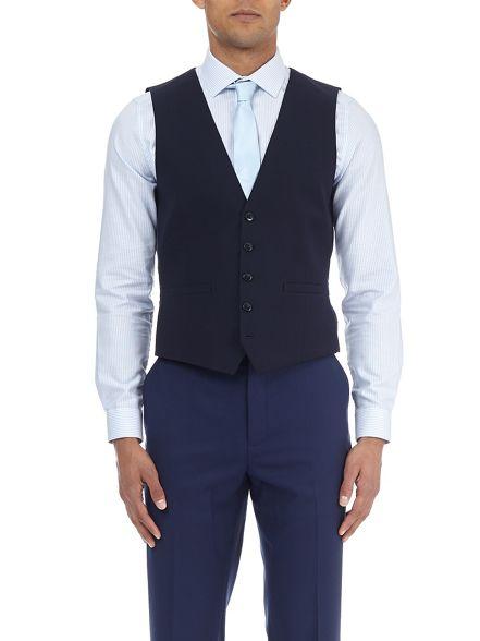 slim waistcoat fit Burton Midnight navy Wn8qH7BR
