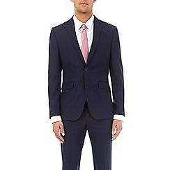 Burton - Navy essential slim fit suit jacket with stretch