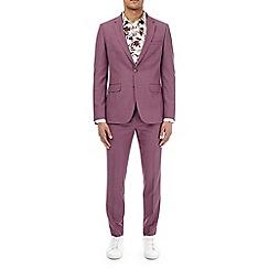 Burton - Raspberry slim fit suit jacket