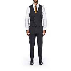 Burton - Grey and brown slim fit waistcoat