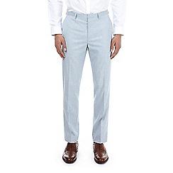 Burton - Pale blue textured slim fit suit trousers